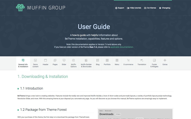 Exempel på bra användar manual - Muffin Group