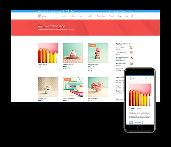 wordpress-webbshop-design-divi