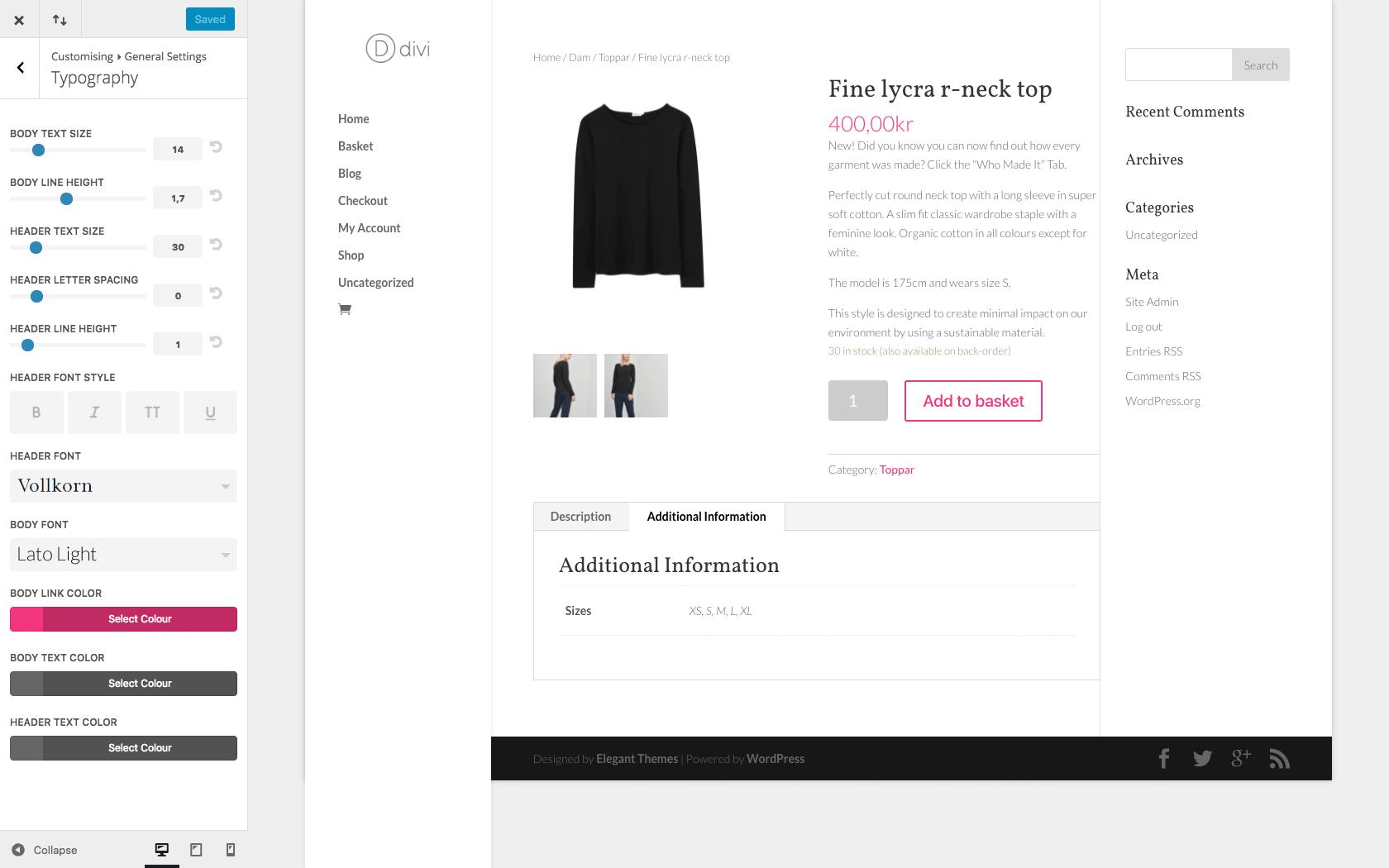 WP Shop - Foretag ændringer nemt