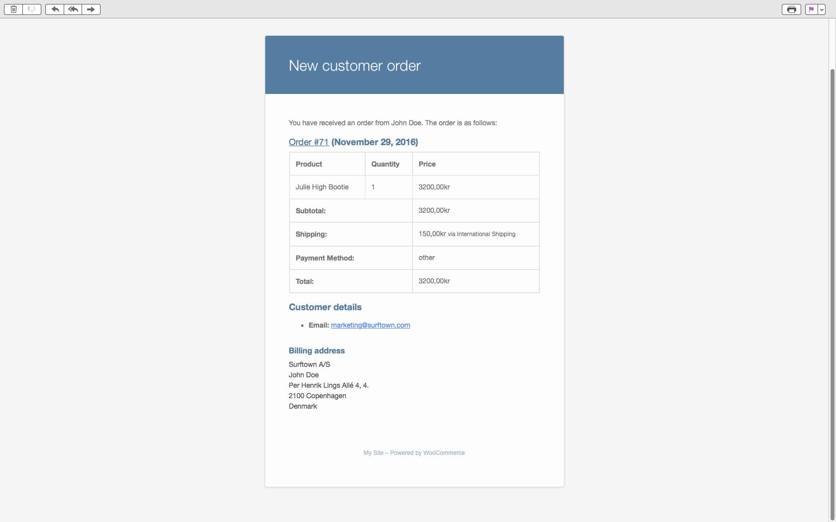 WP Shop - Emailnotifikation ved bestillinger