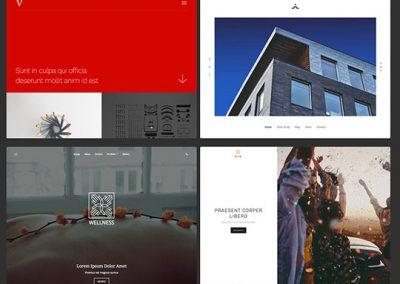 Andra designmallar i hemsideprogrammet kan också passa för din bröllopshemsida.