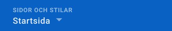 """Meny-alternativ """"Sidor och Stilar"""" bild från hemsideprogrammets gränssnitt."""